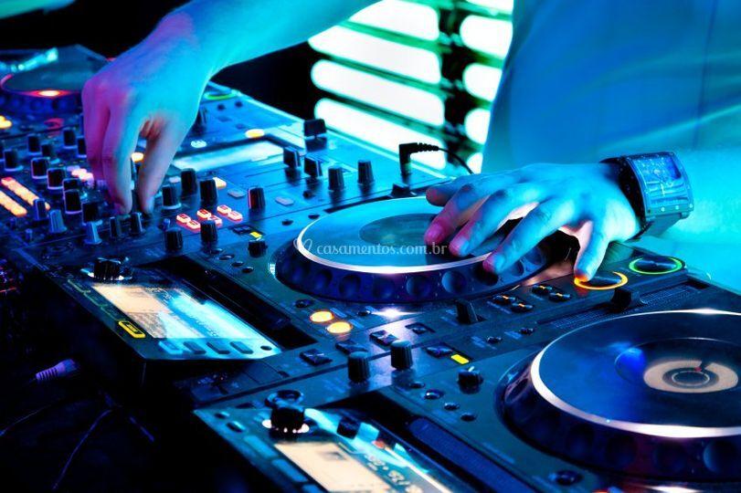 DJ, som Iluminação