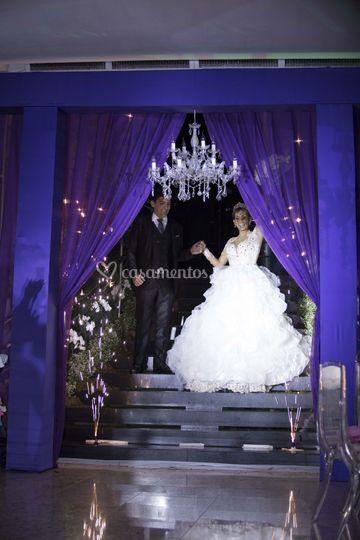 A esperada entrada do casal.