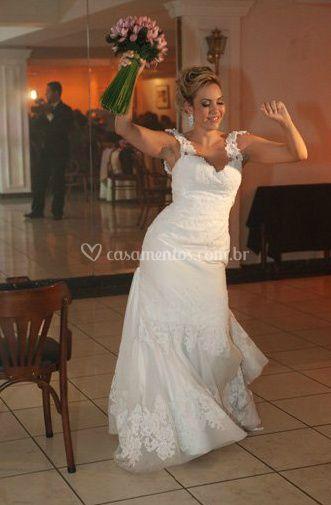 Feliz em seu casamento