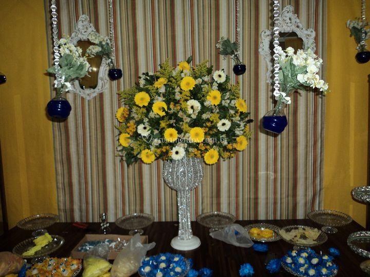 Arranjo mesa principal