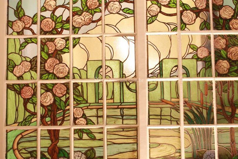Detalhe vitral portais