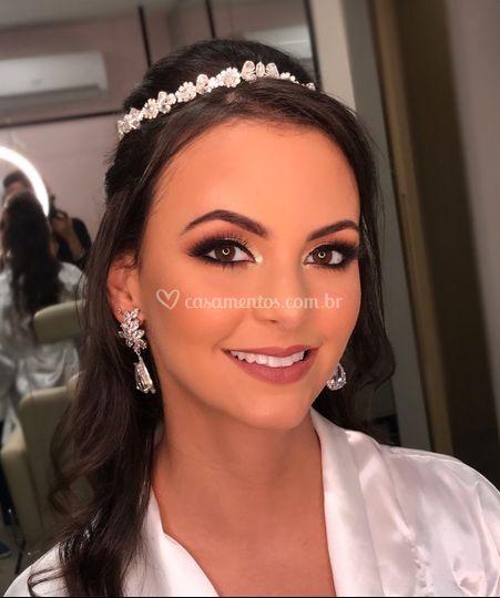 Noiva com beleza incrível