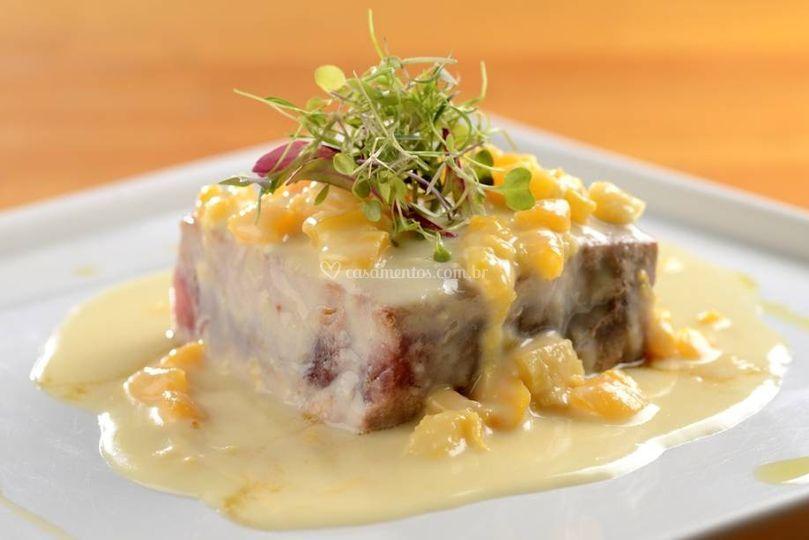 Atum selado c/ queijo de cabra