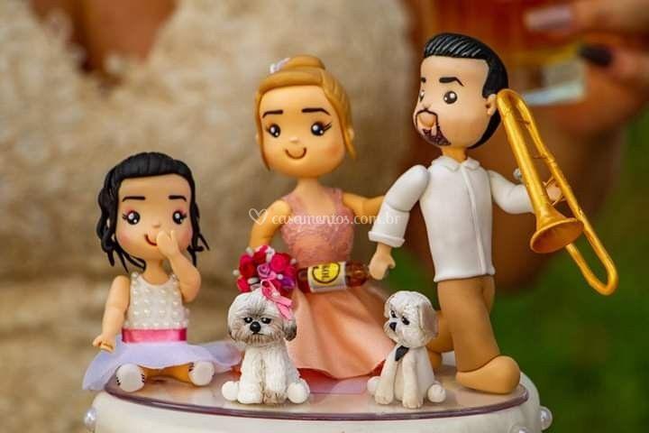 Familia com músico