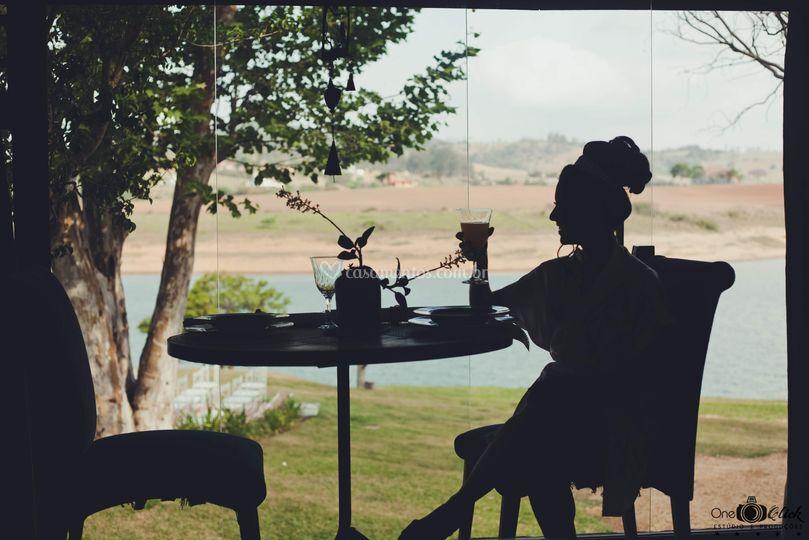 Café no espaço novia
