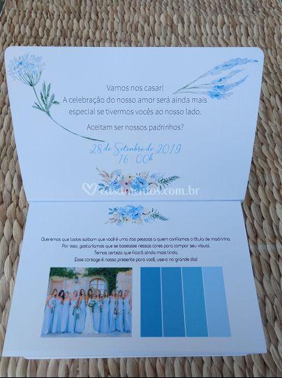 Caixa convite retangular