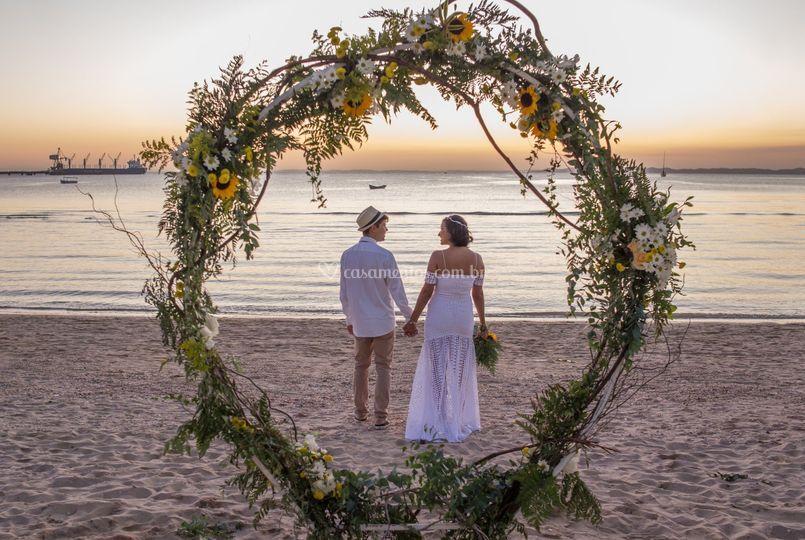 Nada como casar no por do sol