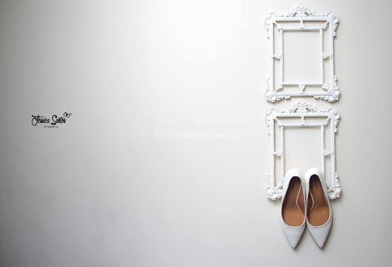No detalhe, o Sapato da noiva
