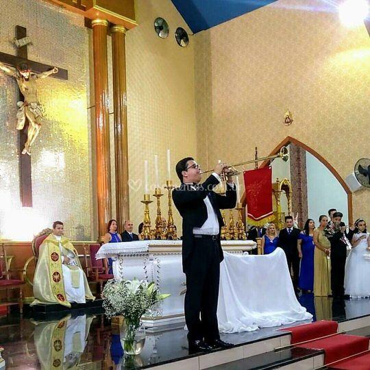 Clarinada em igreja