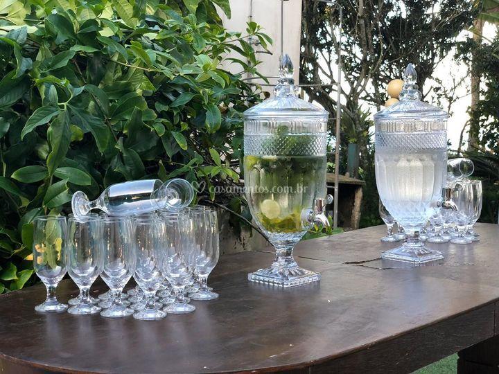 Ponto de agua aromatizada