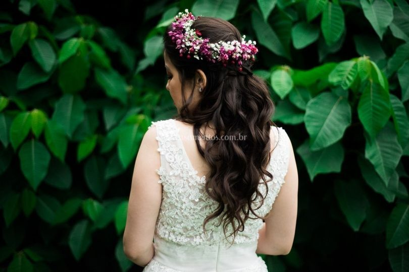 Penteado para casamento campo