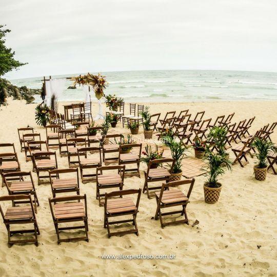 Cerimônia na Praia Ubatuba