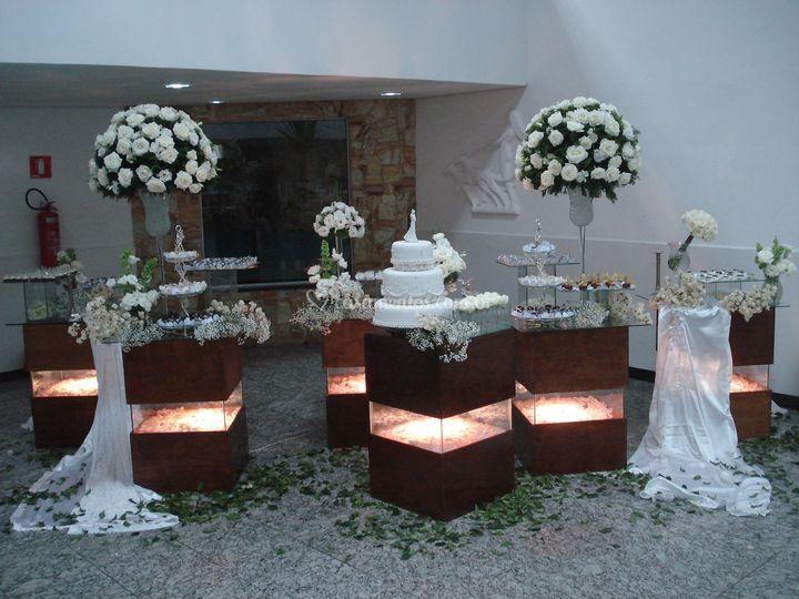 Mesa De Módulos De Vera Flores Decoração Em Flores Foto 5
