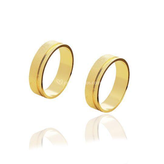 Diamantada friso lateral ouro