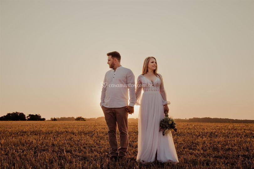 Casamento no por do sol