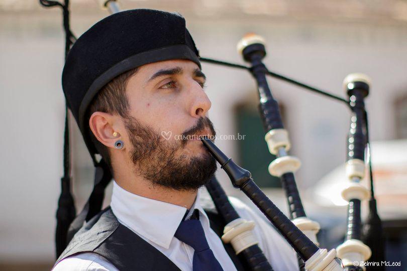 Música na praça Tiradentes-MG