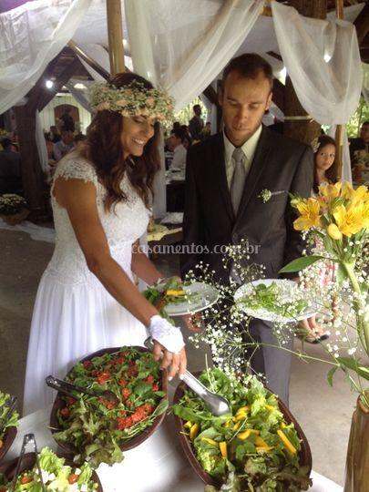 Casamento buffet vegetariano