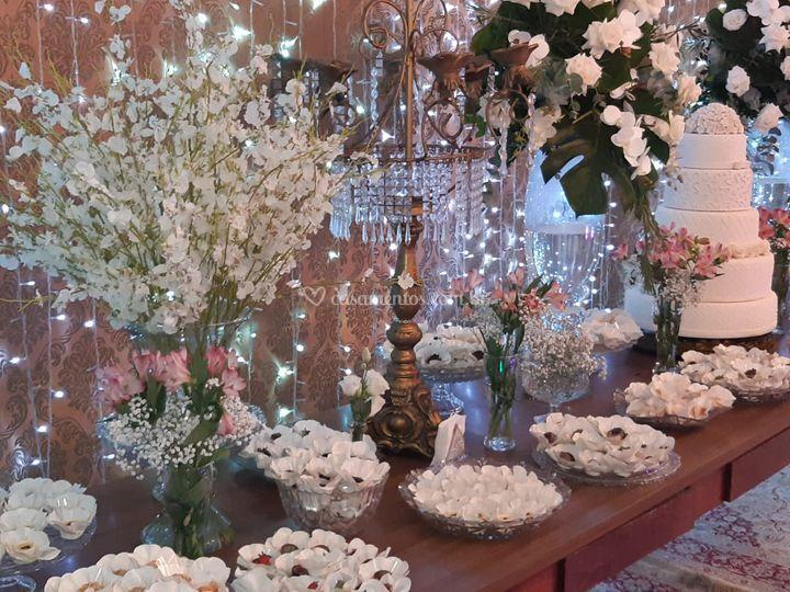 Buffet e decoração