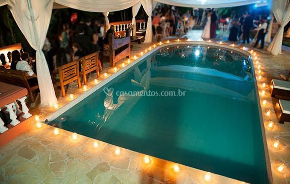 Casamento na piscina