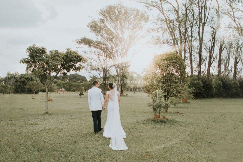 Casamento no pôr-do-sol