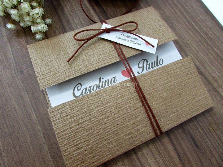Convite de Casamento Linho