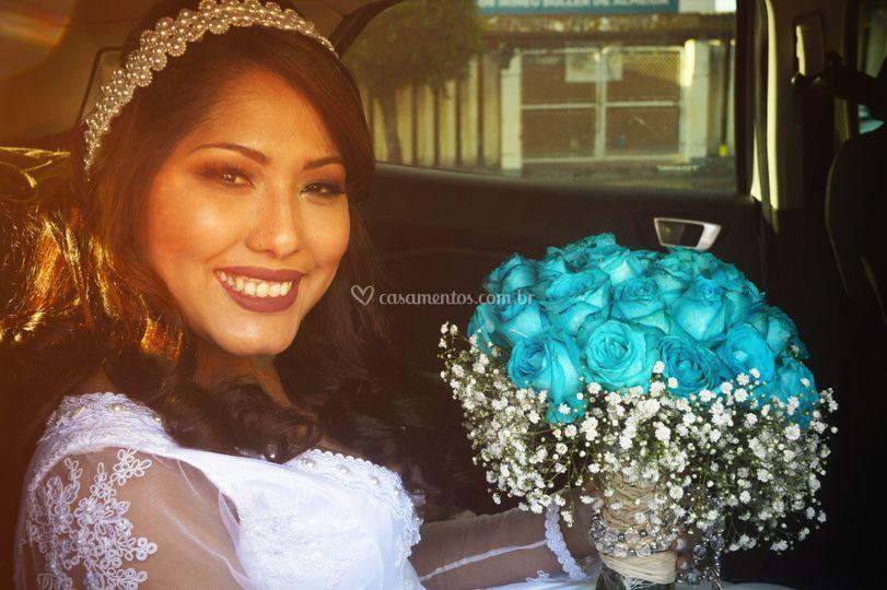Chegada da noiva - Priscila