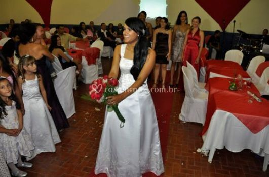 Momento do bouquet