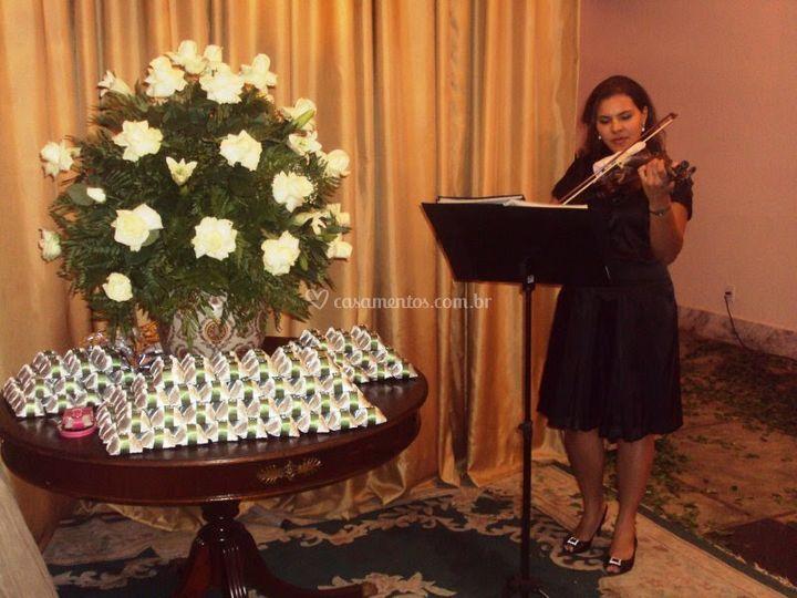 Violino na entrada da recepção