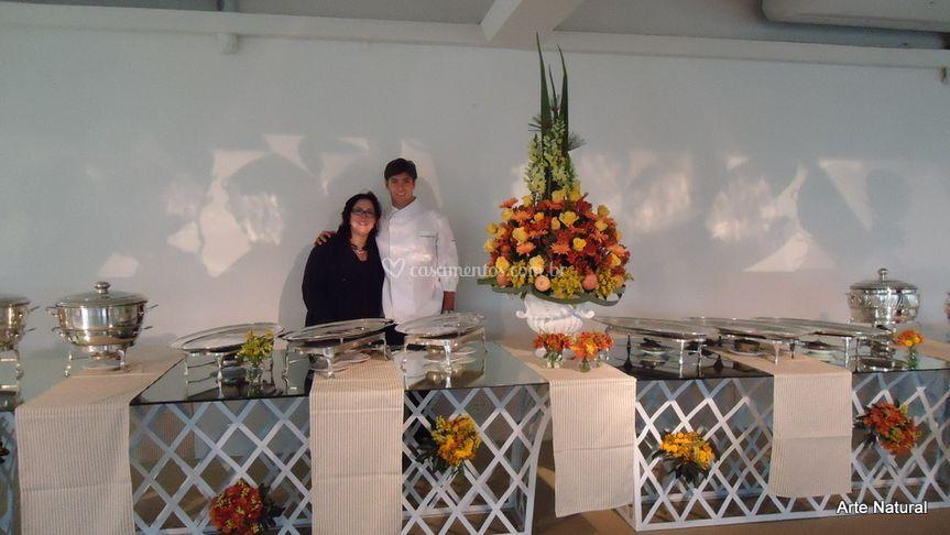 Chef Diogo Pereira e Janete P.