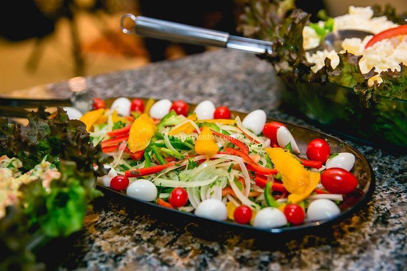 Saladas churrasco.