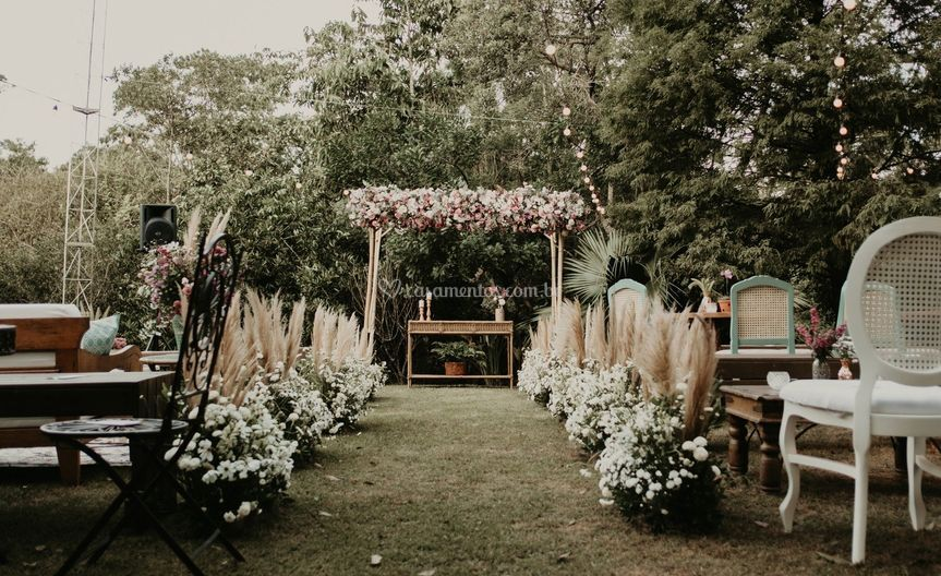 Cerimonia no jardim