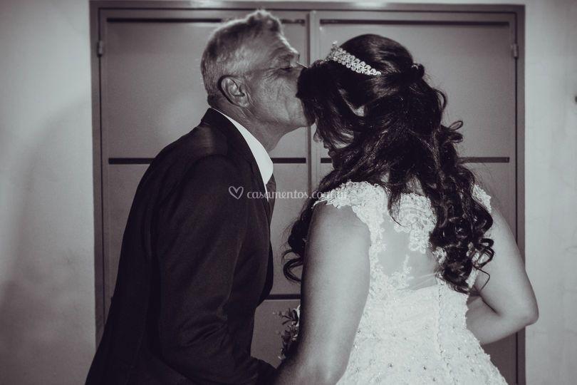Noiva Jaciene e seu pai