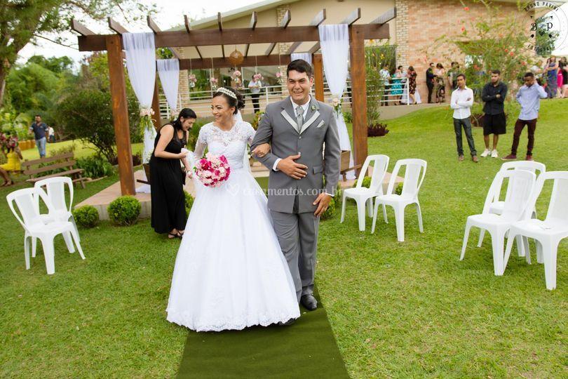 Saída dos noivos!