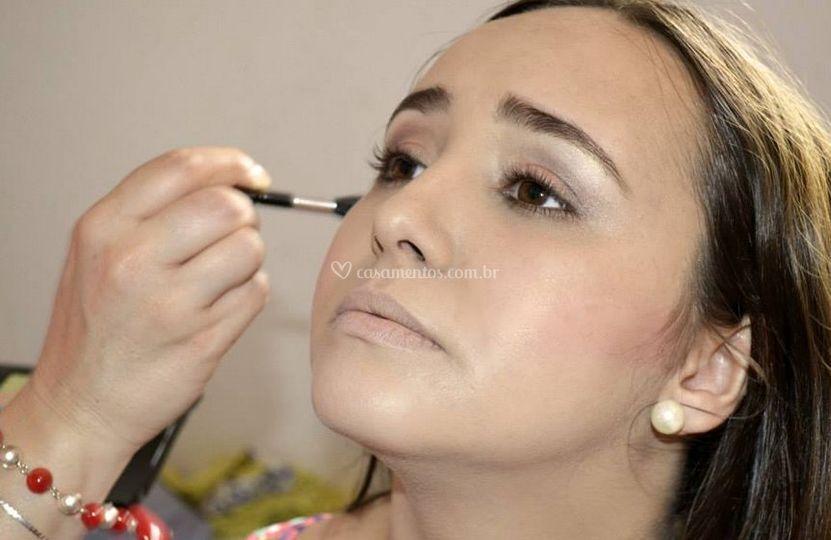 A maquiagem de casamento