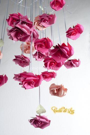 Rosas para pendurar