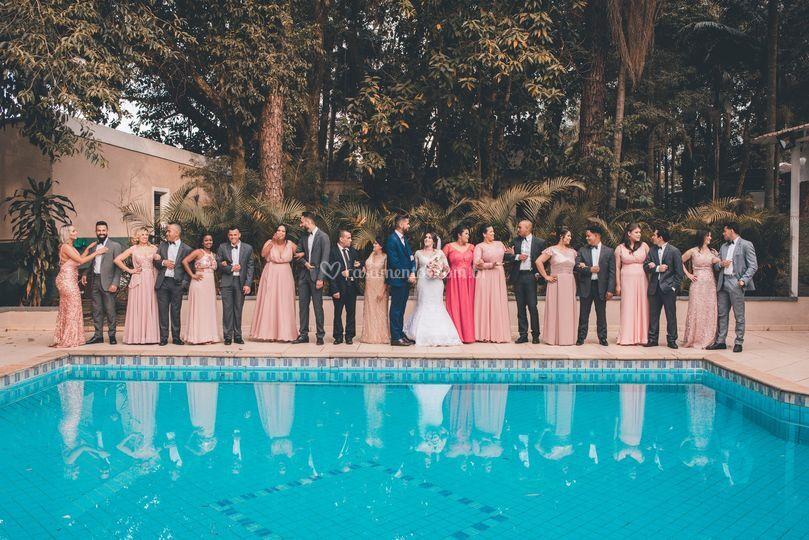 Ensaio padrinhos e noivos