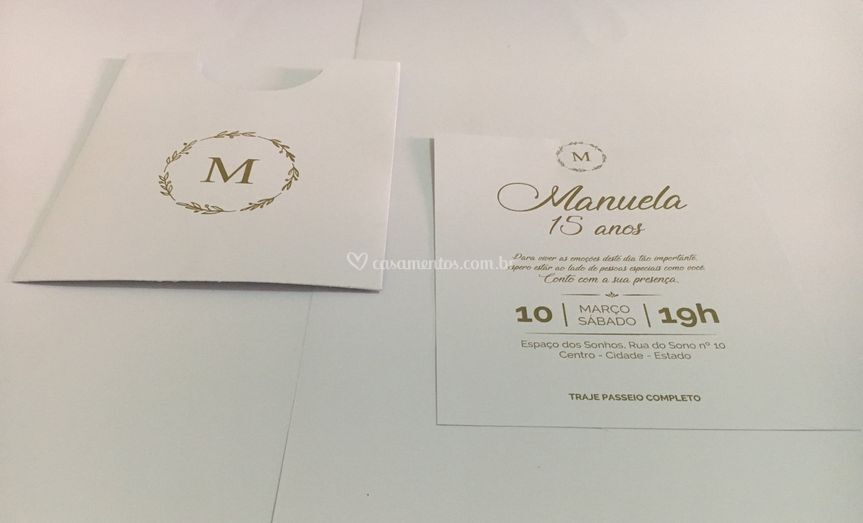 Convite Linha Elegance