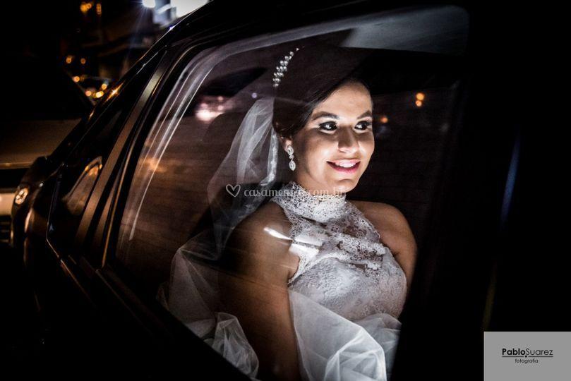 A chegada da bela noiva