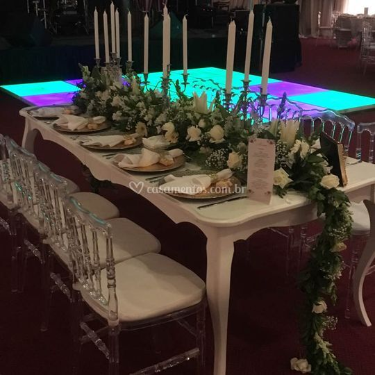 Mesa famílias dos noivos