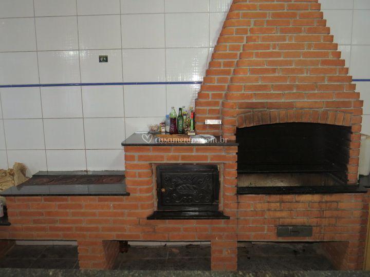 Churasqueira forno e fogao