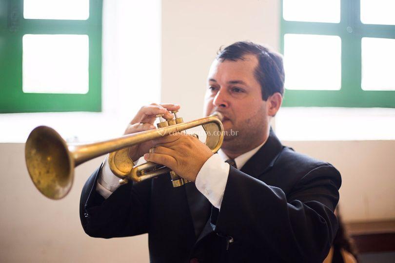 Trompetista Cleber Soares