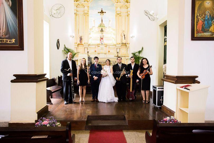 Afinattus com os noivos