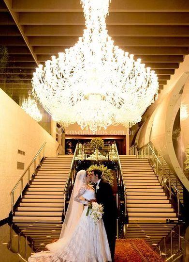 Hall de entrada com noiva