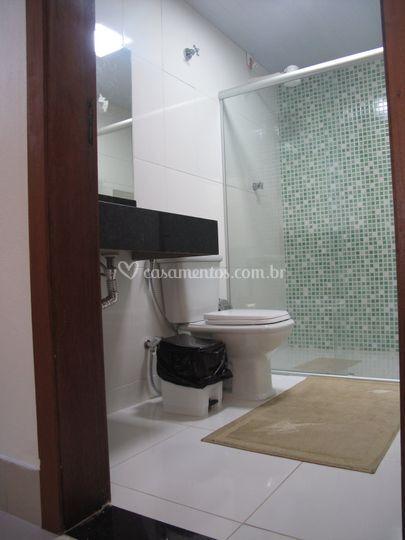 Banheiros do alojamento