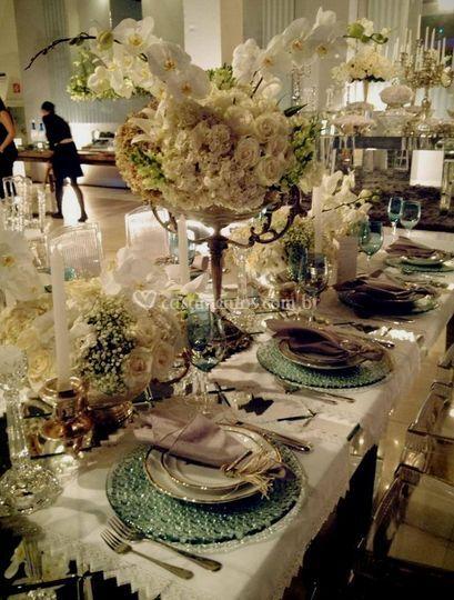 Mesas de casamento decoração
