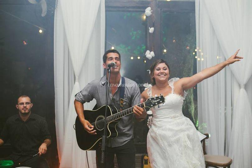 A noiva está curtindo!!!