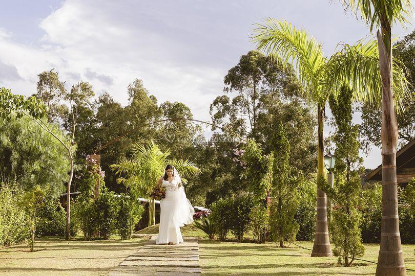 Momento antes da noiva entrar