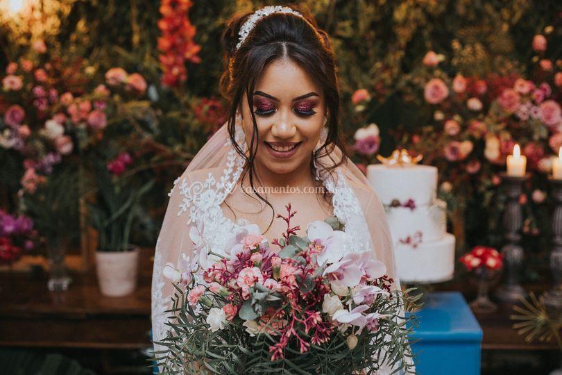 Lindo retrato da noiva taina