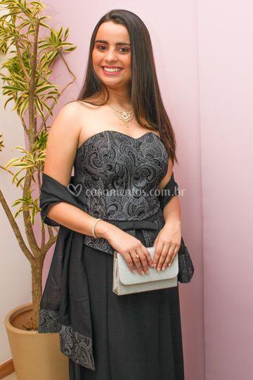 Vestido preto elegante