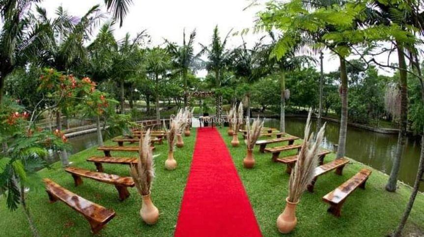 Cerimonia na ilha